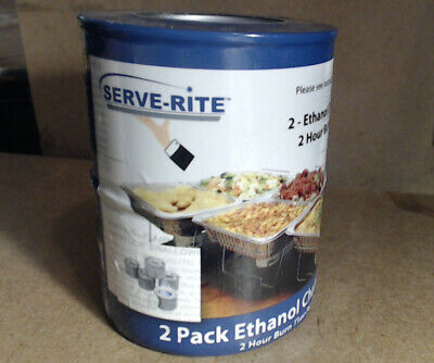 2 Pack Ethanol Chafing Fuel 2 Hour Burn Time Per Can
