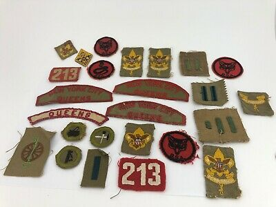 Vintage Lot Of 24 Old Antique Early 1930s Boy Scout Badges  Patches👀 Rare