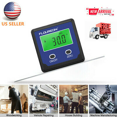 LCD Digital Angle Gauge Level High Precision Angle Finder Protractor Bevel Box