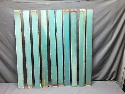 50 Linear Feet Teal Blue Antique Wainscot Shabby Vtg Chic Crafts Frames 71-19J