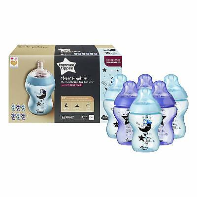 Tommee Tippee Baby Feeding Bottle Closer Nature 6 Bottle 260ml Decorated Pack