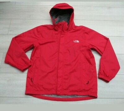 The North Face Mens Resolve Jacket Hyvent Waterproof Rain Coat L Red Festival