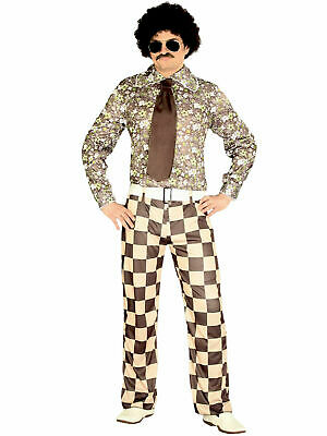 Adult Large 70s 80s Disco Night Fever Flares Trousers Fancy Dress Costume BN
