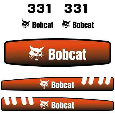 Bobcat 331 Decals Stickers, Repro Aftermarket Decal kit