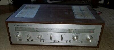 VINTAGE Yamaha CR-620 Stereo 2-Channel Home Receiver Amp Amplifier w/ Wood Case
