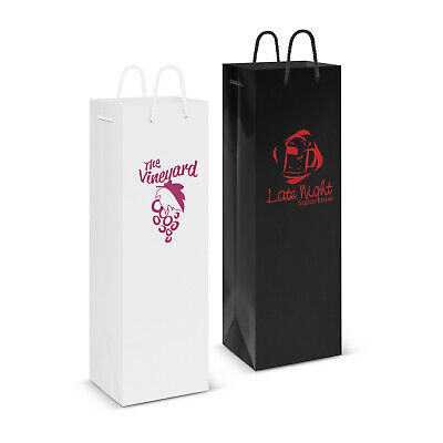 100 x Laminated Wine Bag Paper Bags Bulk Gifts Promotion Business Merchandise