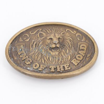 VTG Brass - Truckstop King of the Road Lion Belt Buckle - 186g