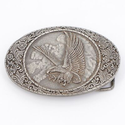 VTG Silver Plated - 1982 INDIANA METAL CRAFT Eagle Filigree Belt Buckle - 163g