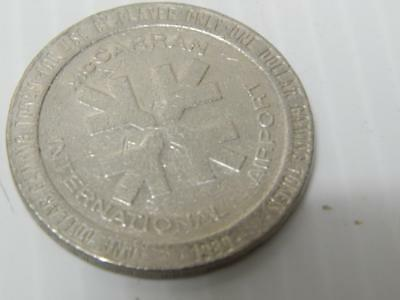 McCARREN INT'L AIRPORT VINTAGE LAS VEGAS CASINO METAL GAMING TOKEN / CHIP RARE