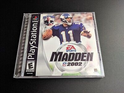 Madden NFL 2002 EA Sports Sony Playstation 1 PS1 EX+NM condition COMPLETE!