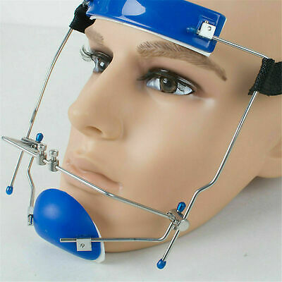 Blue Dental Orthodontic Headgear Adjustable Reverse-Pull Headgear Protraction
