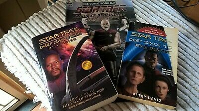 STAR TREK DEEP SPACE NINE MILLENNIUM BK I & THE SIEGE Pocket Books First Eds.