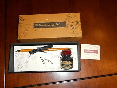 Stuart Houghton Calligraphy Pen & Ink Set Made In Great Britain - New