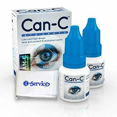 Can-C Eye Drops 5 ml, 2 Count - Eyedrops Natural Ointment Treatment for Animals