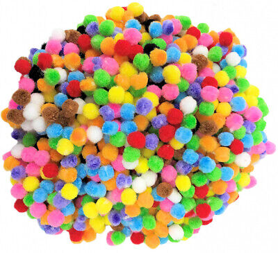 Kids B Crafty Pom Crafts Small Mini Poms For - Coloured 500...
