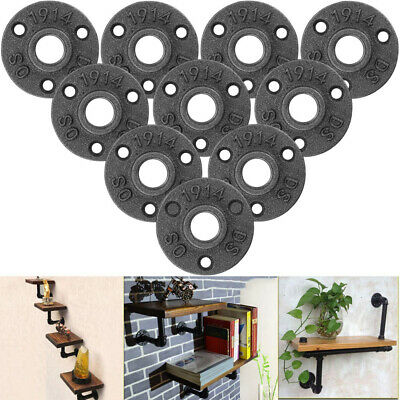 STARVAST 10 Pcs Floor Flange Malleable Black Cast Iron Pipe Fittings Wall...
