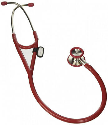 Cardiology dual head stethoscope - burgundy tube, littmann type Lira Bordeaux
