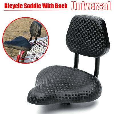 Comfort Tricycle Bicycle Bike Saddle Seat Pad With Back Rest Black Universal