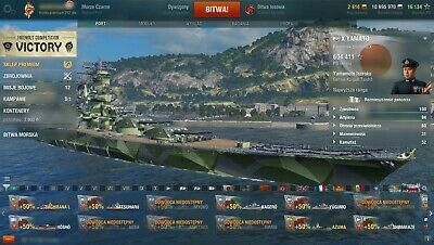 WORLD OF WARSHIPS EU account 10 TIER Ships and more