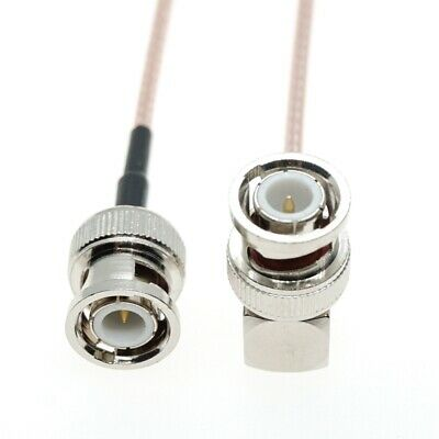 BNC Right Angle Male to BNC Male straight 50-Ohm RG316 Coax Low Loss RF Cable