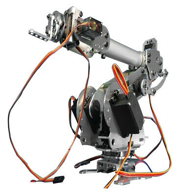 6-Axis Aluminium Alloy Robot Arm Metal Robotic Manipulator with Servos DIY