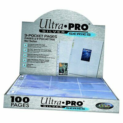 ULTRA PRO 9 Pocket Pages Silver Seires Super Clear 11 Holes MAGIC YUGIOH POKEMON