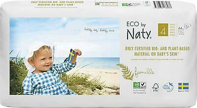 Eco by Naty - Premium Disposable Nappies for Sensitive Skin, Size 4, 2 Packs of