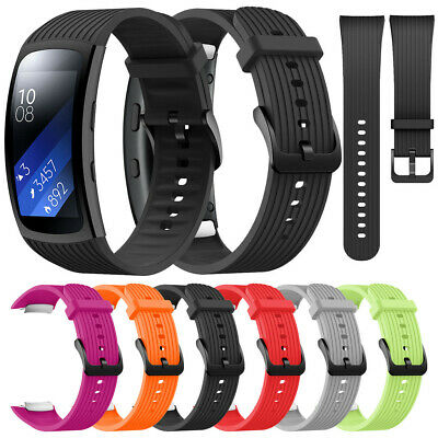 Sport Soft Silicone Replacement Watch Band Sport Strap For Samsung Gear Fit2 Pro