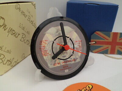 QUEEN (FREDDIE MERCURY) - VINYL RECORD CLOCK - Desk / Table Top + Display Stand