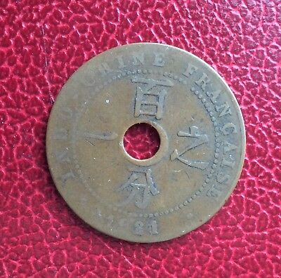 France - Indochine - French Indochina - Rare 1 Cent 1921 San Francisco