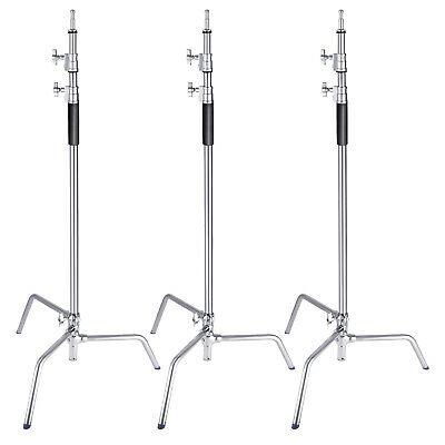 Neewer 3 Packs Stainless Steel Heavy Duty C-Stand Tripod for Reflectors Softbox