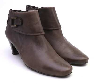 Gabor Womens UK Size 5 Brown Leather Ankle Boots