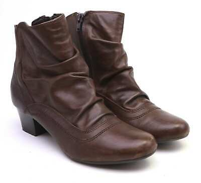 Caravelle Womens UK Size 6 Brown Leather Ankle Boots