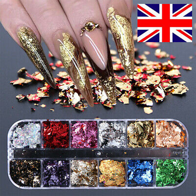 Nail Sequins Aluminum Irregular Flakes Nail Art Decoration Mirror Glitter Foils