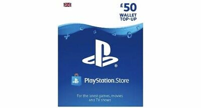 Playstation Network £50 Card - PSN 50 GBP/ PS4 PS3 PSP- 50 Pounds *with Receipt*