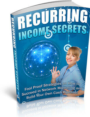 Recurring Income Secrets Ebook With Master Resell Right Bonus + PDF