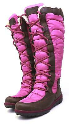 Timberland Womens US Size 8 Pink Padded Winter Warm Knee-High Boots