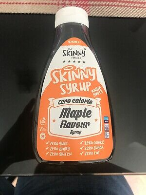 Skinny Foods Zero Calorie Maple Syrup Sauce. Carb Free Fat Free Sugar