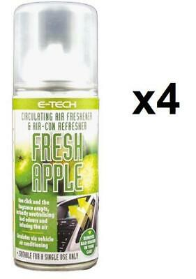 4x APPLE Air Con Conditioning System Cleaner Freshner fits VOLKSWAGEN vw