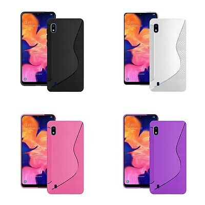 For Samsung Galaxy A10 2019 S-Line Silicone Gel Rubber TPU Various Colours Case