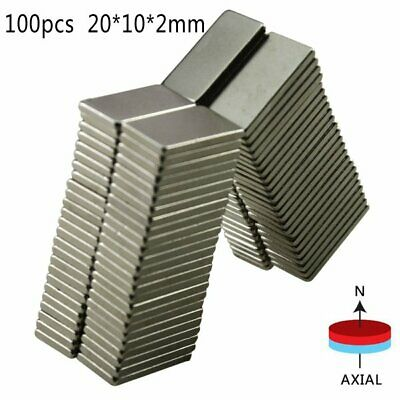 100PC/20PC N52 Neodymium Block Magnet Super Strong Rare- Earth Magnets 20x10x2mm