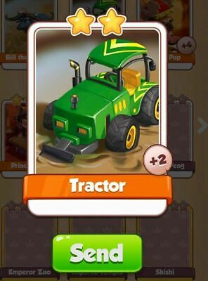 X1 Tractor Coin Master trading card !!!Super Fast Dispatch!!!