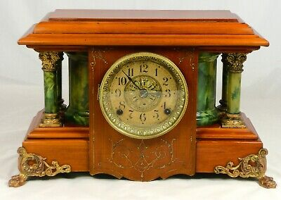 "Beautifully restored Seth Thomas Adamantine ""Sucile"" mantel clock.  Circa 1904"