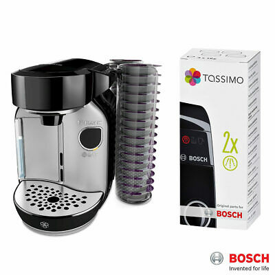 Simple & Easy Tassimo Caddy Coffee Capsule Machine Descaler with 2 Pod Holders