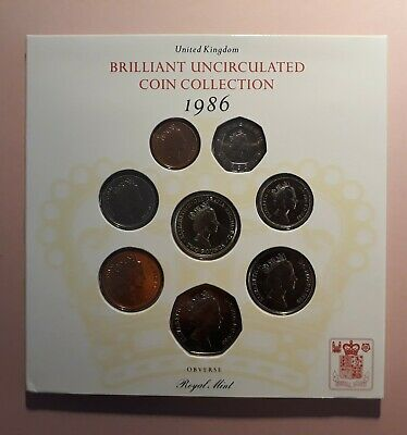 United Kingdom Brilliant Uncirculated Coin Collection 1986