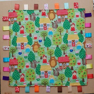 Large Little Red Riding Hood taggy blanket 50x50cm