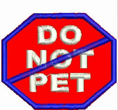 Do Not Pet Dog Patch, Service Dog Patches, ESA Patches, Harness Patches, SD