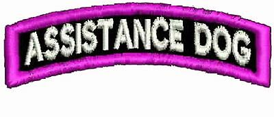 Assistance Dog Patch, Service Dog Patch, ESA Patches,  Rocker Up Harness Patches