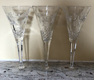 Lot of 3 Fluted Champagne Millennium Series by WATERFORD peace dove VGC