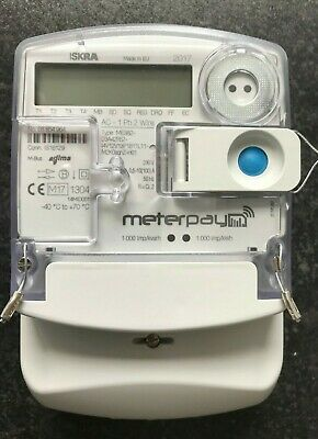Landlords Iskra ME382 electric prepay single phase electricity meter